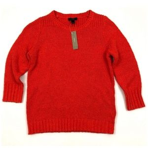 J. Crew orange Twisted Stitch sweater